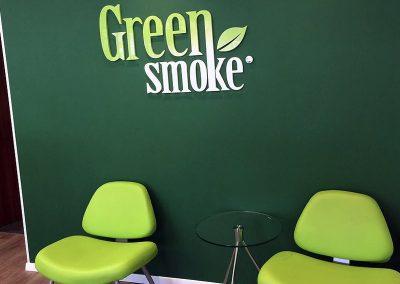 אותיות GREEN SMOKE